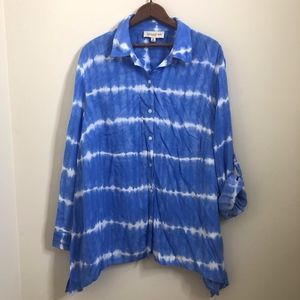 Jones NY Sport Button Down Blouse